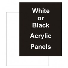 "22"" x 28"" Acrylic Black Replacement Panel"