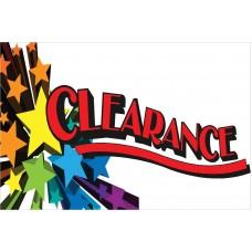 Clearance Stars 2' x 3' Vinyl Business Banner