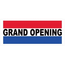 Grand Opening 2.5' x 6' Vinyl Business Banner