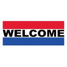 Welcome 2.5' x 6' Vinyl Business Banner