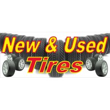 New & Used Tires 2.5' x 6' Vinyl Business Banner