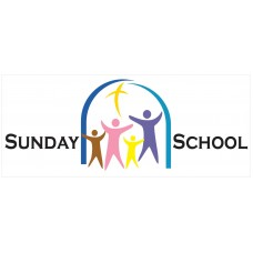 Sunday School 2.5' x 6' Vinyl Church Banner