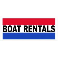 Boat Rentals 2.5' x 6' Vinyl Business Banner