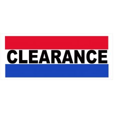 Clearance 2.5' x 6' Vinyl Business Banner