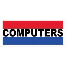 Computers 2.5' x 6' Vinyl Business Banner