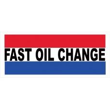 Fast Oil Change 2.5' x 6' Vinyl Business Banner