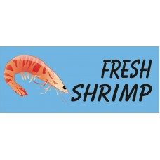 Fresh Shrimp Blue 2.5' x 6' Vinyl Business Banner