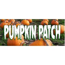 Halloween Pumpkin Patch 2.5' x 6' Vinyl Business Banner