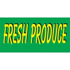 Produce Green & Yellow 2.5' x 6' Vinyl Business Banner