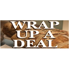 Halloween Wrap Up A Deal 2.5' x 6' Vinyl Business Banner