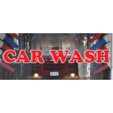 Car Wash Red & Blue 2.5' x 6' Vinyl Business Banner