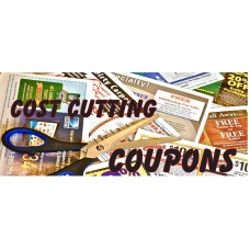 Cost Cutting Coupon 2.5' x 6' Vinyl Business Banner