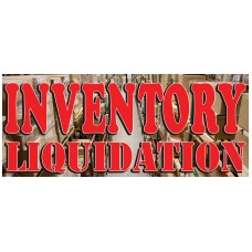 Inventory Liquidation 2.5' x 6' Vinyl Business Banner