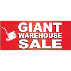 Giant Sale 2.5' x 6' Vinyl Business Banner