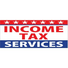 Income Tax Services 2.5' x 6' Vinyl Business Banner