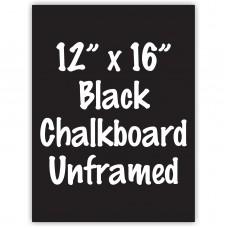 """12"""" x 16"""" Unframed Black Chalkboard Sign"""