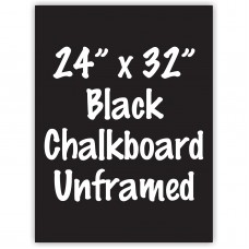"24"" x 32"" Unframed Black Chalkboard Sign"