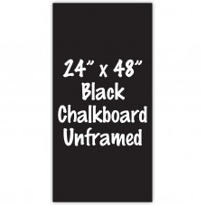 "24"" x 48"" Unframed Black Chalkboard Sign"