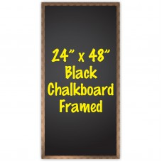 "24"" x 48"" Wood Framed Chalkboard Sign"