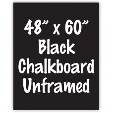 """48"""" x 60"""" Unframed Black Chalkboard Sign"""