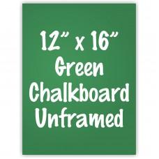 """12"""" x 16"""" Unframed Green Chalkboard Sign"""