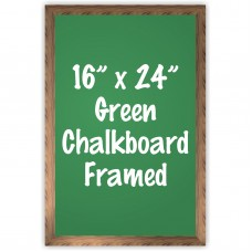 "16"" x 24"" Wood Framed Green Chalkboard Sign"