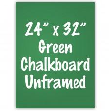 """24"""" x 32"""" Unframed Green Chalkboard Sign"""