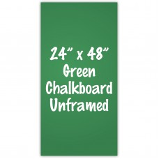 "24"" x 48"" Unframed Green Chalkboard Sign"