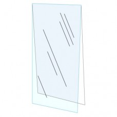 "22"" x 28"" Clear Acrylic Plexi Shield with Backer Board"