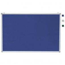 "24""x 36"" Aluminum Framed Blue Fabric Pin Board"