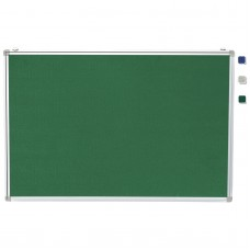 "24""x 36"" Aluminum Framed Green Fabric Pin Board"