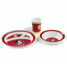 Florida State Seminoles 3 pc Kid's Dish Set