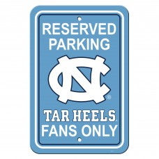 North Carolina Tar Heels 12-inch by 18-inch Parking Sign