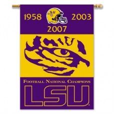 LSU Tigers Champion Years NCAA Double Sided Banner