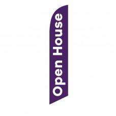 Open House Purple White Windless Swooper Flag