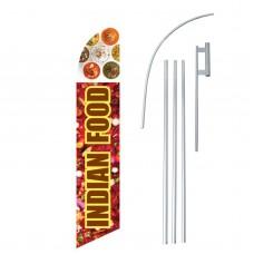 Indian Food Graphic Windless Swooper Flag Bundle
