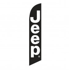 Jeep Black White Windless Swooper Flag