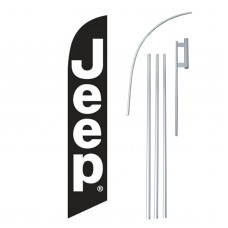 Jeep Black White Windless Swooper Flag Bundle