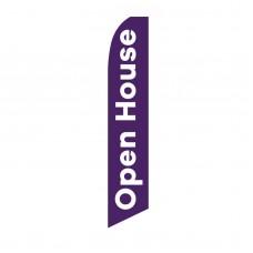 Open House Purple White Swooper Flag