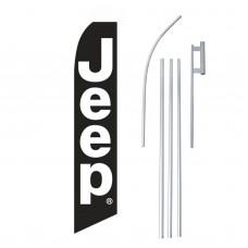 Jeep Black White Swooper Flag Bundle