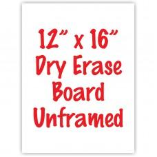 "12"" x 16"" Unframed Dry Erase Whiteboard"