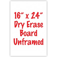 "16"" x 24"" Unframed Dry Erase Whiteboard"