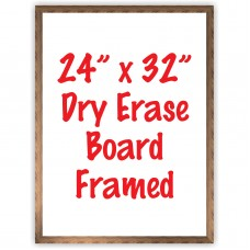 "24"" x 32"" Framed Dry Erase Whiteboard"
