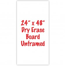 "24"" x 48"" Unframed Dry Erase Whiteboard"