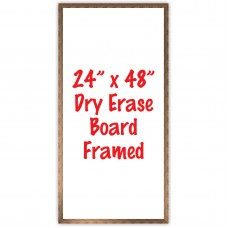"24"" x 48"" Framed Dry Erase Whiteboard"