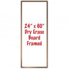 """24"""" x 60"""" Framed Dry Erase Whiteboard"""
