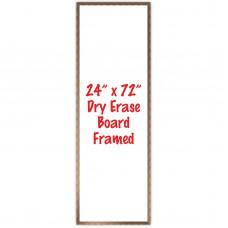 """24"""" x 72"""" Framed Dry Erase Whiteboard"""