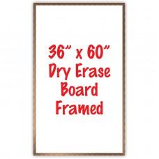 """36"""" x 60"""" Framed Dry Erase Whiteboard"""