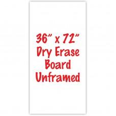 "36"" x 72"" Unframed Dry Erase Whiteboard"