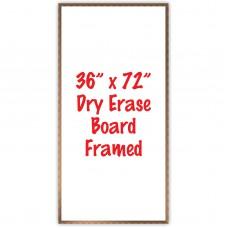 """36"""" x 72"""" Framed Dry Erase Whiteboard"""